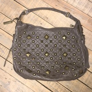 DKNY quilted/studded leather hobo purse